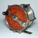 Philbrook-&-Paine-raised-pillar-salmon-reel-marbleized-fly-fishing-reel-antique
