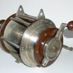 Stevens-big-game-fishing-reel-miami-florida-double-two-handles-16-0-vintage-antique