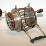 Stevens-big-game-fishing-reel-miami-florida-double-two-handles-16-0-vintage-antique