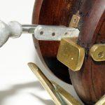 Unknown-big-game-fishing-reel-english-wood-brass