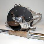ja-coxe-genuine-bronson-michigan-big-game-fishing-reel-antique-deep-sea-vintage-cradle-16-0